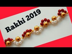 Learn with me how to make a beautiful rakhi at home Beaded Jewelry, Beaded Bracelets, Jewellery, Handmade Rakhi Designs, Rakhi Making, Crafts For Kids, Arts And Crafts, Diwali Craft, Doodle Art Drawing