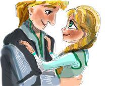 Kristoff et princesse Anna