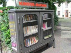 Street library for children's books in Germany