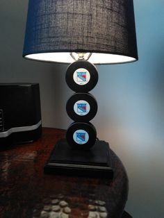 New York Ranger Old Time Logo Lamp by PuckinCrazyLamps on Etsy