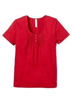 sheego casual sheego Casual Shirt mit süßen Biesen am Ausschnitt rot