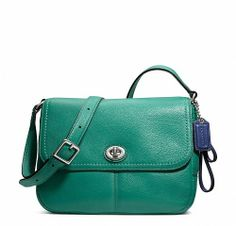 'BNWT, F23663 Coach Park Leather Bag, Jade' is going up for auction at  3pm Wed, Nov 20 with a starting bid of $1.