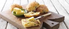 Cheesy Corn & Bacon Scones recipe from Food in a Minute