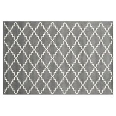 Check out this item at One Kings Lane! Rexford Rug, Dark Gray/Ivory