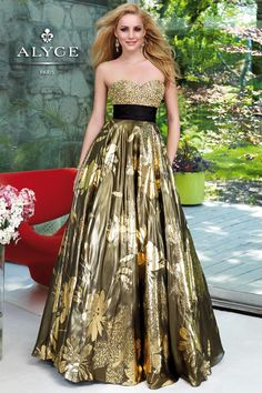 Prom Dress by Alyce Paris6055Fasion in Foil!