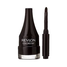 Revlon ColorStay Cre me Gel Eyeliner - Black (9.74 AUD) ❤ liked on Polyvore featuring beauty products, makeup, eye makeup, eyeliner, eyes, black, revlon, kohl eye liner, smudge proof eyeliner and kohl eyeliner