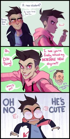 New Disguise by Shaqccident on DeviantArt Cartoon Drawings, Cute Drawings, Cartoon Art, Cartoon Ships, Invader Zim Dib, Invader Zim Characters, Character Art, Character Design, Emo Love