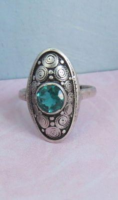 VINTAGE Theodor Fahrner 925 Sterling Silver ART DECO Ring