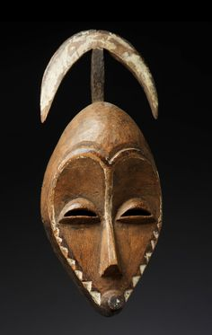 Africa | Mask from the Pende people of Congo | Wood and pigment || Sept. 2014 Catalogue