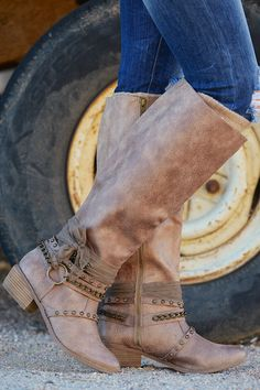 "Gorgeous boots that are sure to have your name buzzing around their thoughts. Side zipper for easy on and off. Top diameter is approx 16"" around. Overall heigh"