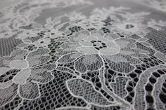 White Floral Chantilly Lace