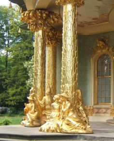 the columns at the Sanssouci Palace, Potsdam, Germany.