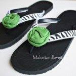 Make changable flip flops