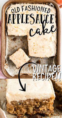 Apple Recipes, Baking Recipes, Sweet Recipes, Cake Recipes, Dessert Recipes, Applesauce Recipes, Kitchen Recipes, Vegan Recipes, Food Cakes