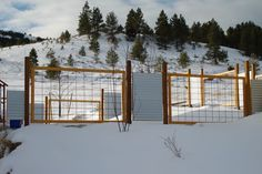 Fence for snow and windy areas