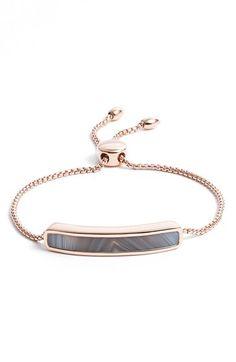 Monica Vinader-Baja' Stone Bracelet Rose Gold/grey