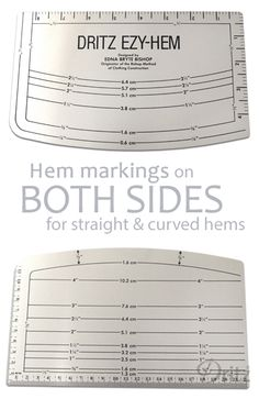 Sewing Tutorial: How to Use a Dritz EZY-HEM Gauge