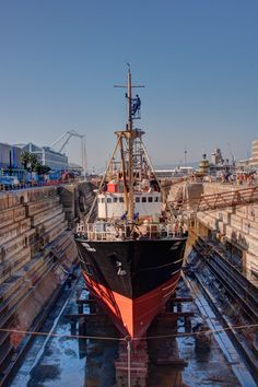 A worker repairs a ship in its dock Multiple Exposure, Dynamic Range, Hdr, Sailing Ships, Shots, Boat, Lighting, World, Photography
