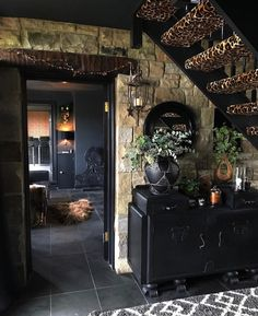 Eclectic, Dark & Glamorous Home Tour - Sally Worts | There's a lot we can take inspiration from Sally's family home even if you're not a lover of the dark or eclectic styles. Sally has an expert eye for detail and has mastered the use of #texture to its fullest to create a home that oozes character and the dramatic. #eclecticinteriors #darkinteriors #interiorinspo #homedecor #eclectichome #homeinspo #interiordesign #interiors #darkdecor #decorideas #hometour #barnconversion #leopardprint