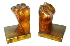 Organic Burl Wood Bookends - Human Torso Abstract - a Pair on Chairish.com