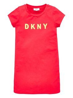Dkny Girls Short Sleeve Logo T-Shirt Dress - Raspberry, Raspberry, Size - Raspberry - 14 Years Short Girls, Baby Wearing, Logos, Raspberry, Dressing, Short Sleeves, Shirt Dress, T Shirts For Women, Raspberries