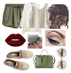 """""""PS."""" by ejayy1215 on Polyvore featuring ADRIANA DEGREAS, Chicwish, Keds, Jil Sander, Lime Crime and Mehron"""