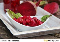 Nálev na červenou řepu recept - TopRecepty.cz Raspberry, Strawberry, Fruit Salad, Plastic Cutting Board, Serving Bowls, Watermelon, Canning, Tableware, Kitchen