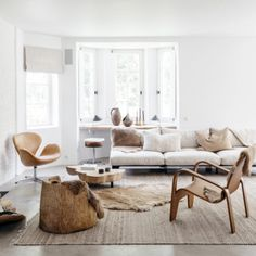 House Tour :: This Belgian Home Is The Perfect Cozy, Clean Slate for Winter - coco kelley - layered furs and whites in this cozy living room + scandi decor - Cozy Living Rooms, Living Room Interior, Home And Living, Living Room Furniture, Living Room Decor, Apartment Living, Furniture Stores, Neutral Living Rooms, Ethnic Living Room