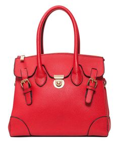 @zulily calls this Crimson Carlyle Satchel by Elise Hope perfection! #zulilyfinds #elisehope