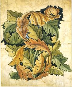 'Acanthus' design by William Morris, 1874. Museum number CIRC.297-1955 V&A Museum