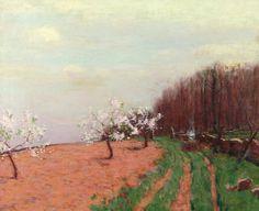 Bruce Crane (1857-1937), Start of Spring (Apple Blossoms)