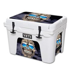 MightySkins Protective Vinyl Skin Decal for YETI Tundra 35 qt Cooler wrap cover sticker skins Psycho Skull *** Check this awesome product by going to the link at the image.(This is an Amazon affiliate link and I receive a commission for the sales)