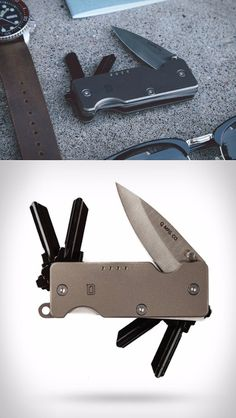 MINI Q KNIFE + KEY EDC Everyday Carry Key Organizer and Knife Blade