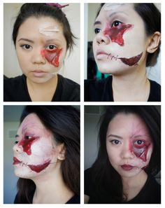 zombie makeup #halloween #zombie #ripped