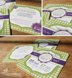 Ausgefallene Einladungen / Einladung zum Sommer-Gartenfest gedruckt auf Bierdeckeln / Garden party invitation card printed on a beermat / by FISCHUNDBLUME DESIGN, Berlin / www.fischundblume.de