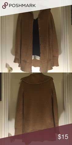 """New York & Company Sweater Coat Good condition sweater coat. Needs a little TLC with a shaver but otherwise perfect. 55% acrylic, 45% cotton. Length from shoulder is 30"""". New York & Company Sweaters Cardigans"""
