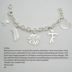 this web site turns your child's drawing into keychains and jewelry - great gift idea !