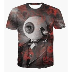 11.17$  Buy now - http://di6q2.justgood.pw/go.php?t=174203902 - Fashion Round Collar Pullover Eyeball Printed T-Shirt For Men 11.17$