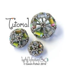 TUTORIAL Tila Icosahedron Bead Beaded with Seed Beads by gwenbeads
