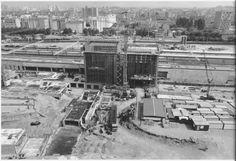 1982 Lyon Gare de la Part Dieu : construction des bâtiments centraux de la gare