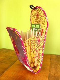 Accordion Circular Needle Pouch  Haven by chickenboots on Etsy, $28.00 -- Love this idea!