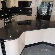 Nero Stella- Ware, Herts - Rock and Co Granite Ltd Vanity Room, Splashback, Granite, Corner Desk, Furniture, Home Decor, Corner Table, Decoration Home, Room Decor