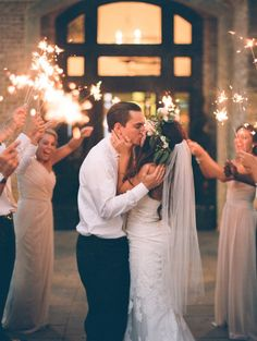 Sparkler Send-off | Bridal Musings Wedding Blog