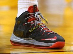 info for 4ee7c 20501 Credit guarantee that all pictures in - kind shooting, please rest assured  to buy Nike LeBron X PS Elite Black Grey Sport Red