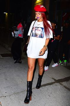 "Rihanna at ""Lucky Strike"" Bowling Alley in New York. (10th May 2015)"