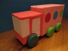 Ruimtelijke knutsel: vervoer vrachtauto