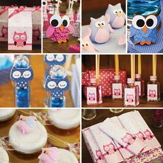 Sweet Pink & Blue Owl Dessert Table / @Christi Spadoni Spadoni Townsend for Lauren