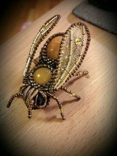 Купить Брошь Пчелка Золотая - брошь, брошь пчела, пчела, пчелка, брошь пчелка, жук
