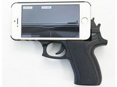 This Gun Grip Case for the iPhone 5 Turns Your Phone Into a Handgun #phonecases trendhunter.com