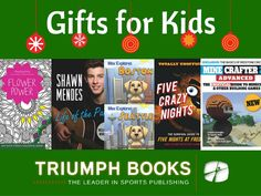 Great gift ideas for kids! Get them book they'll love from Triumph Books! Flower Power, Shawn Mendes, Max Explores, Five Crazy Nights, Minecrafter. Hobbies For Kids, Gifts For Kids, Great Gifts, Crazy Max, Crazy Night, Building Games, The Pa, Music Books, Shawn Mendes